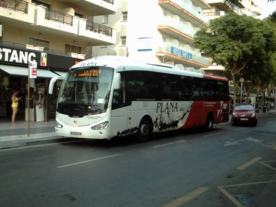 SALOU, SPAIN.---Plana  bus,  this one for  nearby  Cambrils.