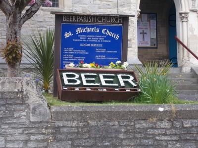 Yes. . Beer is  the  name of  a  seaside  village  in  Devon.