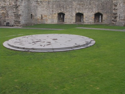 CAERNARFON  WALES UK.  In the centre of this Dias,the Throne was placed,that Prince Charles  sat on at  his Investiture in 1969., as The Prince of Wales.
