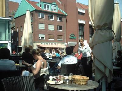 MUNSTER,  GERMANY.   Street Cafe.