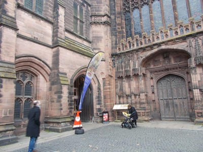 CHESTER.Cathedral entrance.