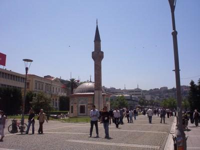 TURKEY  IZMIR..  Yali Mosque in Konak  Square.