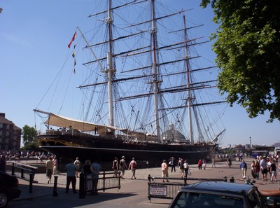 GREENWICH  LONDON    Cutty  Sark,  one of  the  fastest clipper ships.
