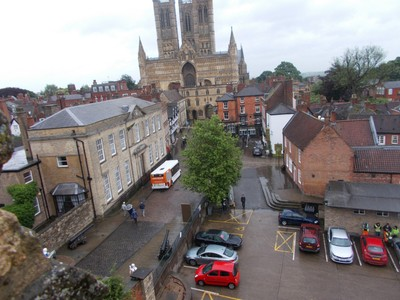 LINCOLN. CATHEDRAL  from castle wall.
