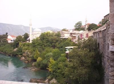 MOSTAR  BOSNIA  HERZEGOVINA--  Neretva  river.