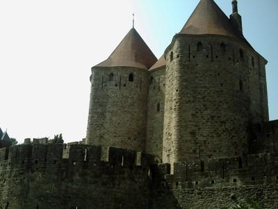 CARCASSONNE  FRANCE.   The  castle  outside.