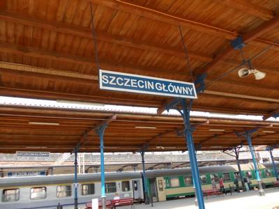 SZCZECIN  POLAND.    Train station in  April  2013.