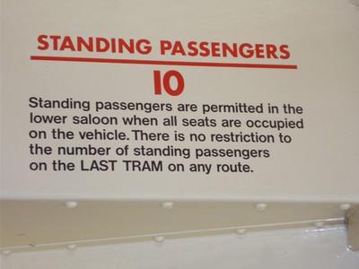 Sign  in  Tram  in  Museum.