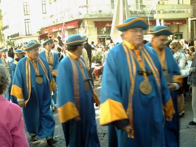 AVIGNON  FRANCE.   Colourful  parade.