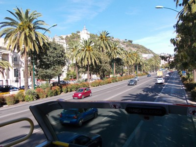 SPAIN  MALAGA....On top of Open Top Bus.