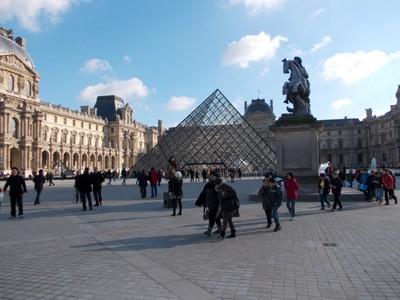 PARIS,  FRANCE.   -- Entrance to Louvre  Museum.