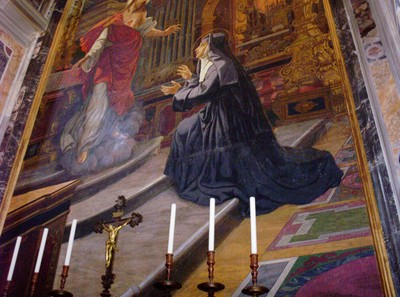 ROME  ITALY.    Art in St Peters Cathedral.