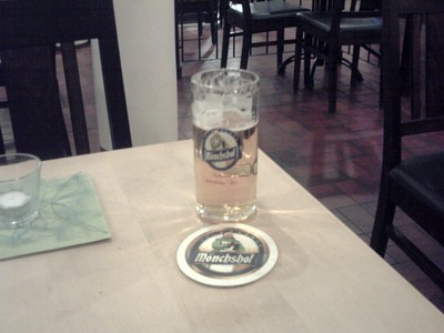 BAMBERG  GERMANY.      Monchshol  beer, brewed by Kulmbach  brewery.