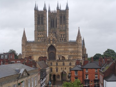LINCOLN CATHEDRAL from Castle wall.