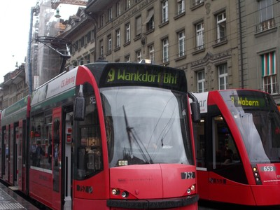 BERN ,Tram for football stadium.