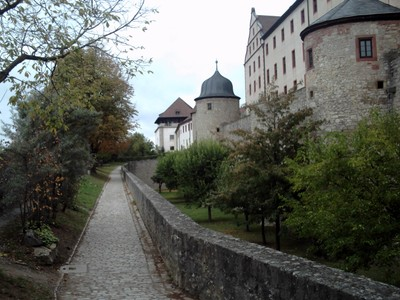 WURZBURG  GERMANY,      Path to Marienberg castle  entrance.
