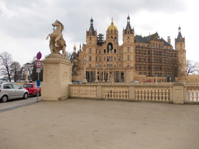 SCHWERIN  GERMANY.   The castle is on a small island in a lake.