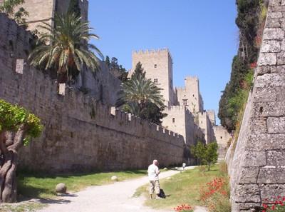 GREECE  RHODES  Castle Moat.