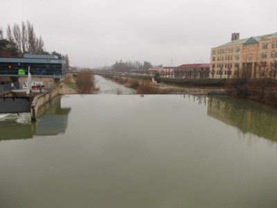 LEON  SPAIN,    River Bernesga  near  hotel.