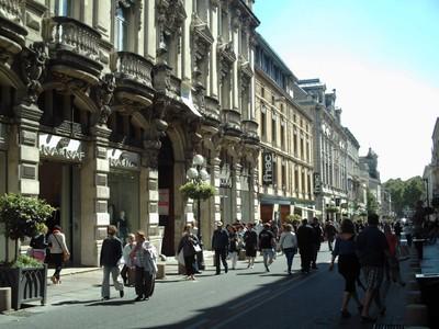 AVIGNON   FRANCE.     Rue De La  Republique.   the  main  street  of  Avignon.