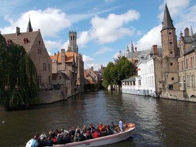 BRUGGE.  Rozenhoedkaai.. Must be the most photographed place in Brugge.
