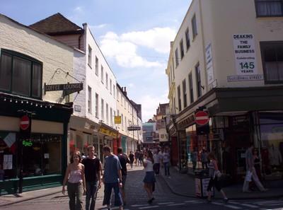 CANTERBURY,  ENGLAND.   Shopping  street.