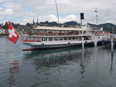 LUCERNE  SWITZERLAND..   Boat trips all over the lake.