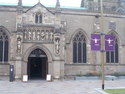 LEICESTER  Cathedral main entrance.