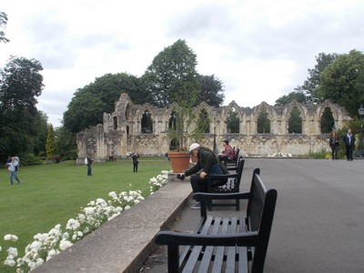 ST. MARYS ABBEY IN MUSEUM GARDENS YORK