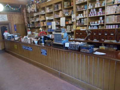 BEAMISH MUSEUM. INSIDE CO-OP GROCERY.