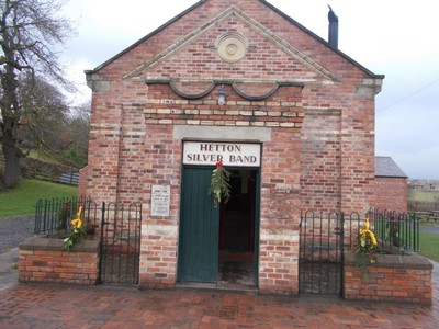 BEAMISH MUSEUM. Hetton Silver Band Hall. Colliery bands are part of the North East heritage. Moved brick by brick from Hetton-le-Hole Wearside.