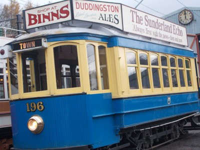 BEAMISH MUSEUM.  South Shields tram from 1935.