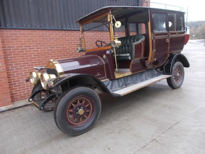 BEAMISH MUSEUM.  Car is Armstrong Whitworth from early 20th century.  Built in Elswick Newcastle upon Tyne.