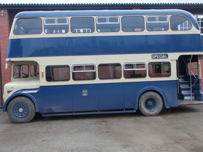 BEAMISH  MUSEUM. Double decker bus from Rotherham South Yorkshire.