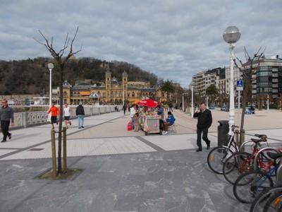 SAN SEBASTIAN  SPAIN.          In February.