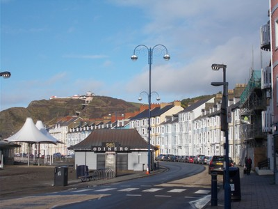 ABERYSTWYTH  WALES.   Seafront,  --Top of Funicular on Consititution Hill.