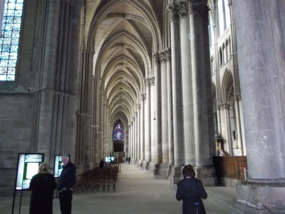 REIMS,  FRANCE  -- Cathedral nave.