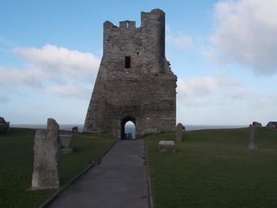 ABERYSTWYTH  WALES.  Castle ruin.