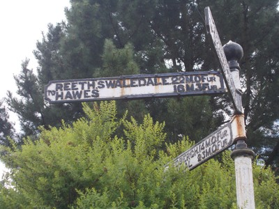 North  Yorkshire.  --  Sign in  miles and  furlongs.