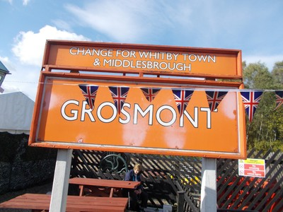 GROSMONT STATION SIGN.