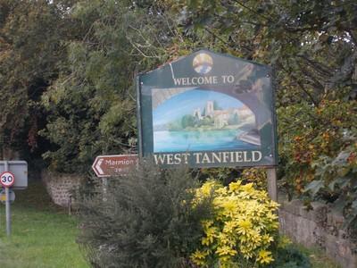 WEST TANFIELD,Village sign.