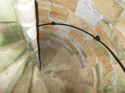 SPIRAL STAIRCASE IN TOWER..Well kept.by English Heritage.