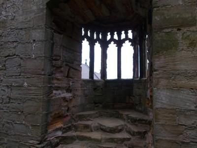 Oriel Window in tower.