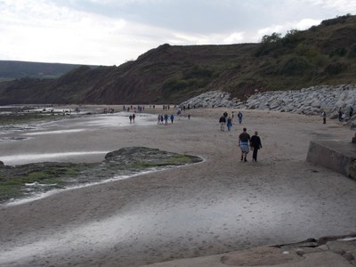 ROBIN HOODS BAY. Sandy beach.