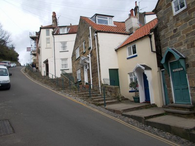 ROBIN HOODS BAY .Near the top of the hill.