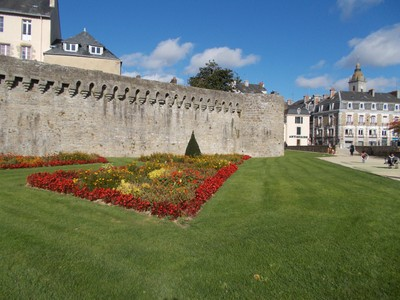 VANNES  FRANCE .City wall.
