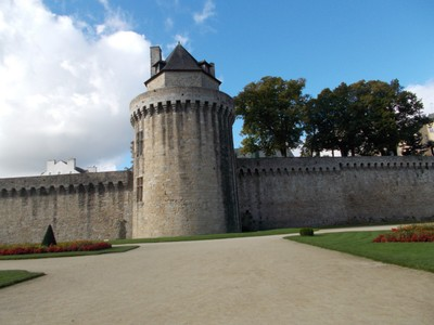 VANNES  FRANCE  City wall.