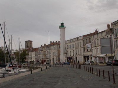 LA ROCHELLE  FRANCE.   Lighthouse on land in town.
