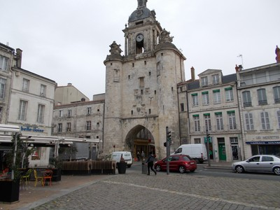 LA ROCHELLE FRANCE.  Grosse Horloge tower.