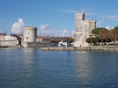 LA ROCHELLE  FRANCE,.  Harbour towers